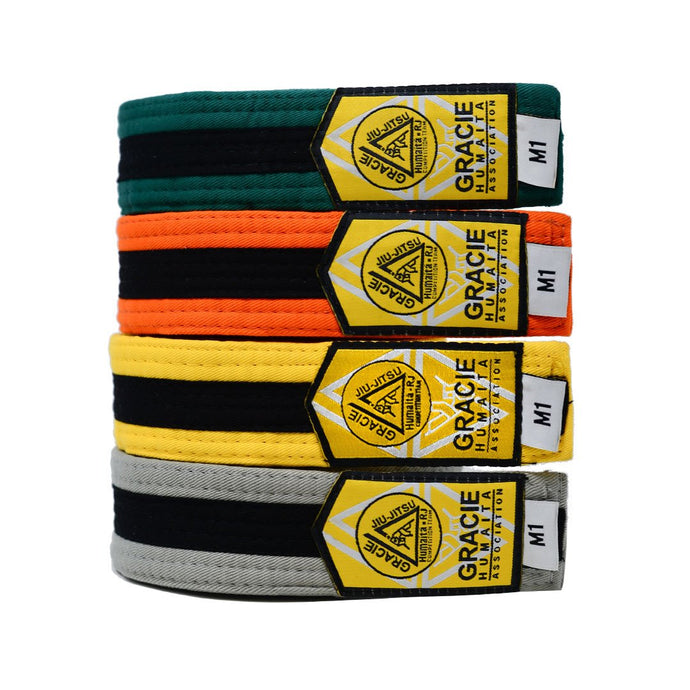 Gracie Humaita Youth Color and Black Jiu Jitsu Belt