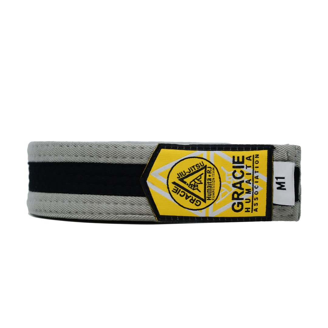 Gracie Humaita Youth Gray Belt with Black Strip