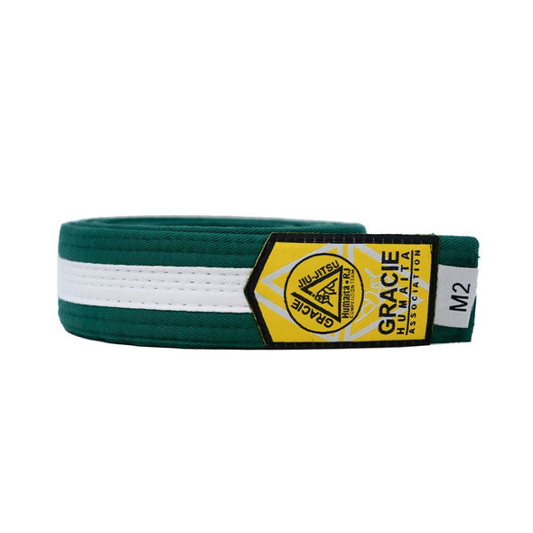 Gracie Humaita Youth Green Belt with White Strip