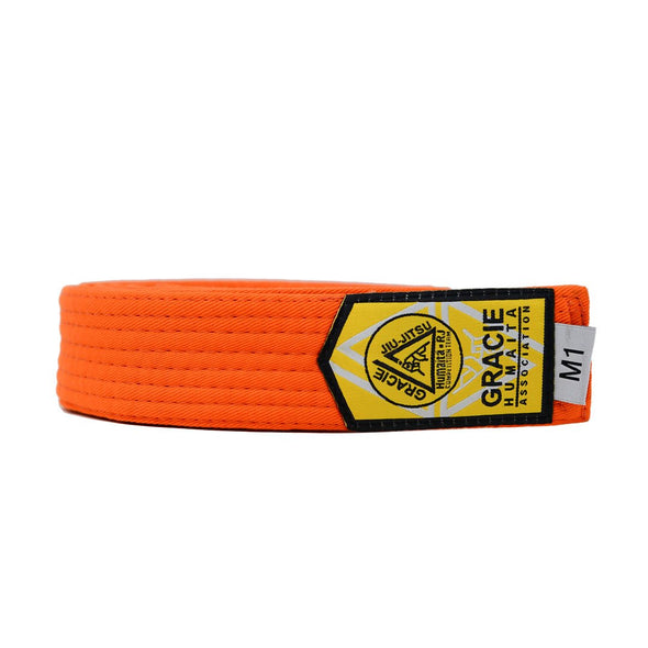 Gracie Humaita Youth Orange Solid Jiu Jitsu Belt