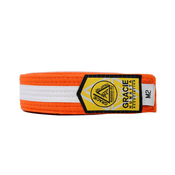 Gracie Humaita Youth Orange Belt with White Strip