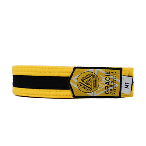 Gracie Humaita Youth Yellow Belt with Black Strip