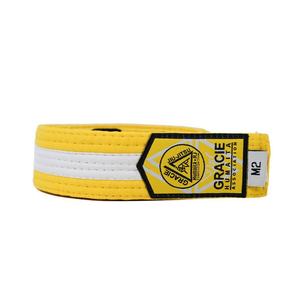 Gracie Humaita Youth Yellow Belt With White Strip