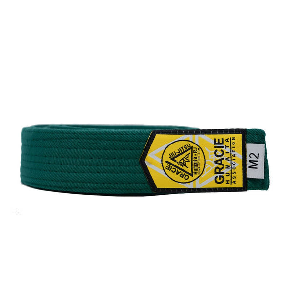 Gracie Humaita Youth Green Solid Jiu Jitsu Belt