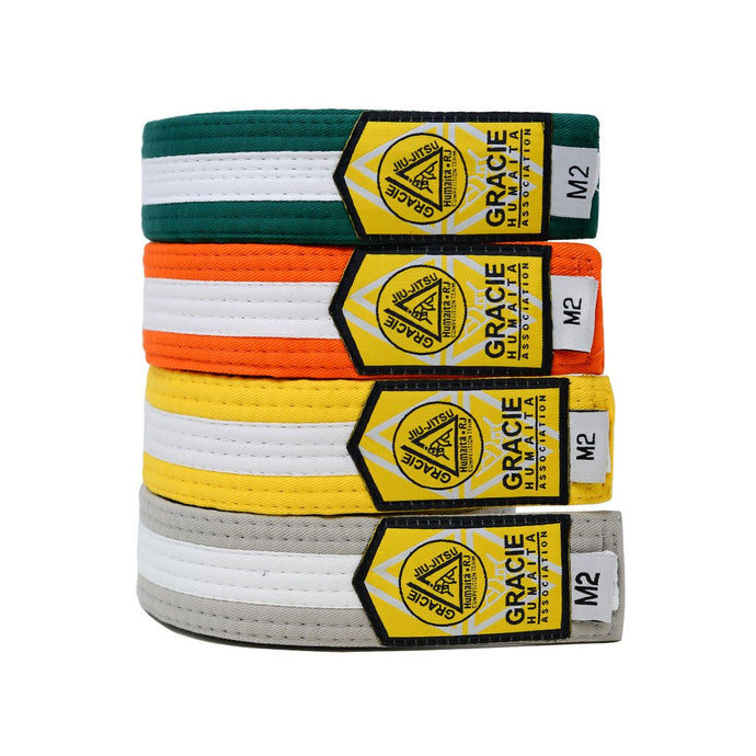 Gracie Humaita Youth Color With White Strip Jiu Jitsu Belt