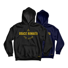 Load image into Gallery viewer, Gracie Humaita College Hoodie Black and Blue