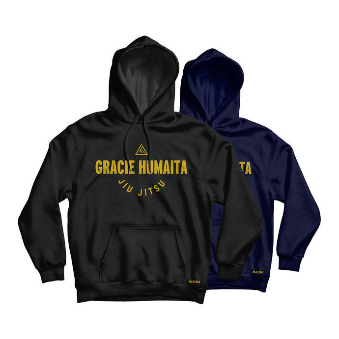 Gracie Humaita College Hoodie Black and Blue
