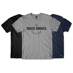 Gracie Humaita College Tee Gray Black and Blue