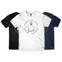 Load image into Gallery viewer, Gracie Humaita Legacy Blue-White-Black Tee