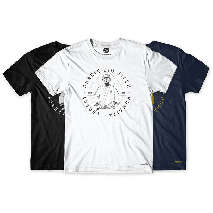 Gracie Humaita Legacy Blue-White-Black Tee