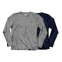 Load image into Gallery viewer, Gracie Humaita Legacy Long Sleeve Tee Shirt Gray and Blue