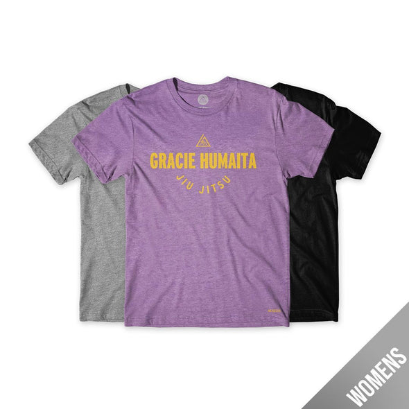 Gracie Humaita College Women Tee Purple-Green-Black