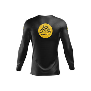 Gracie Humaita Ranked L/S Rash Guard Back View