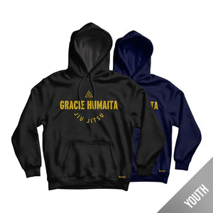 Gracie Humaita College Youth Hoodie Black and Blue