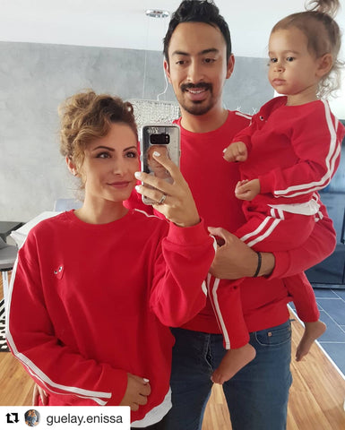 Little Red Heart Family Matching