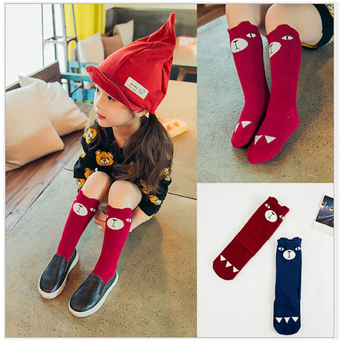 bear knee high boot socks