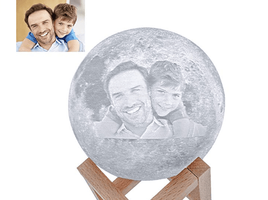 3D Printing 6 Inches Personalized Moon Lamp, Color - Dad to Daughter
