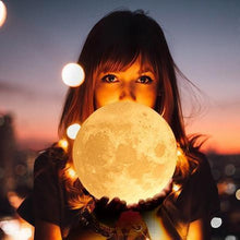 Load image into Gallery viewer, 3D Printing 6 Inches Personalized Moon Lamp, Color - Dad to Son