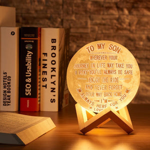 3D Printing 6 Inches Personalized Moon Lamp, Color - Dad to Son