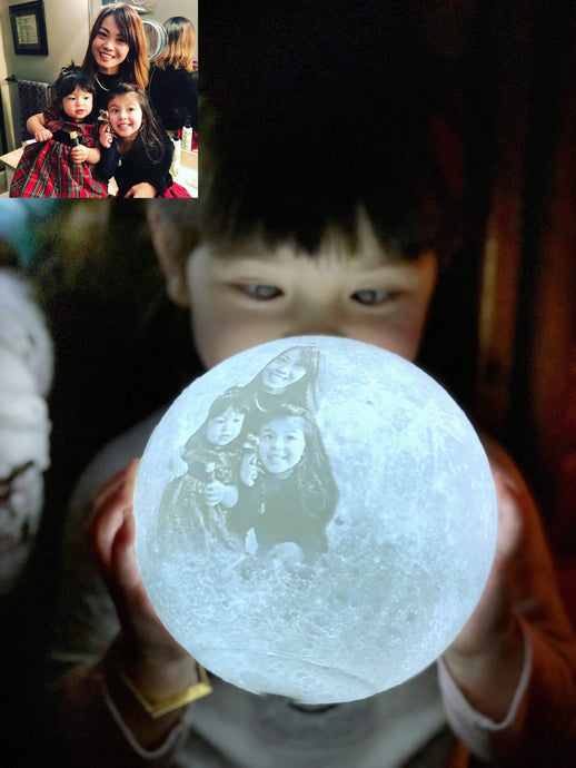 3D Printing 6 Inches Personalized Moon Lamp, Color - Mom to Son