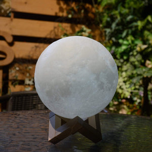 3D Printing 6 Inches Personalized Moon Lamp With Picture, Color - Dad to Daughter