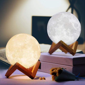 3D Printing 6 Inches Personalized Moon Lamp With Picture, Color - Mom to Daughter