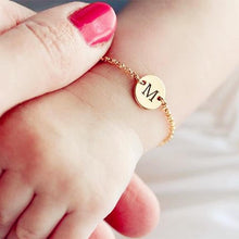 Load image into Gallery viewer, Baby Custom Initial Name Bracelets