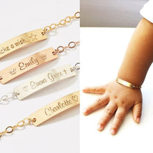 Load image into Gallery viewer, Baby ID Custom Name Bracelets