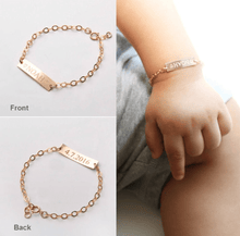 Load image into Gallery viewer, Baby ID Custom Name Bracelets Name Plate