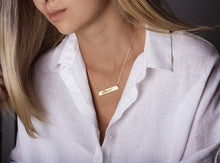 Load image into Gallery viewer, Custom Handwriting Necklace Signature Necklace GOLD - ONE SIDE ($27.30)