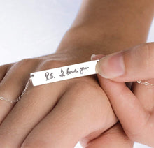 Load image into Gallery viewer, Custom Handwriting Necklace Signature Necklace SILVER - ONE SIDE ($27.30)