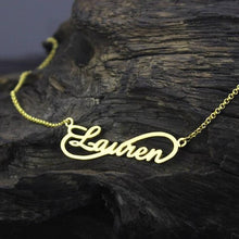Load image into Gallery viewer, Custom Infinity Name Necklace Gold Color