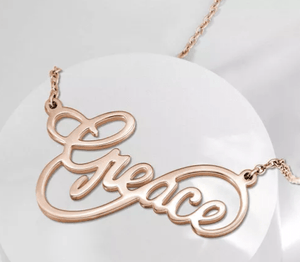 Custom Infinity Name Necklace Gold Color