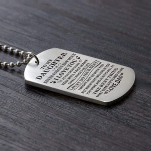 Dad To Daughter-Do Your Best Personalized Dog Tags For Graduation Birthday Gift 6003