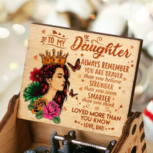 Load image into Gallery viewer, Dad To Daughter-Love You More Than You Know Engraved Wooden Music Box  MUSICBOX002