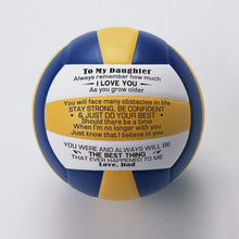 Load image into Gallery viewer, Dad To Daughter-Stay Strong Be Confident Engraved Volleyball