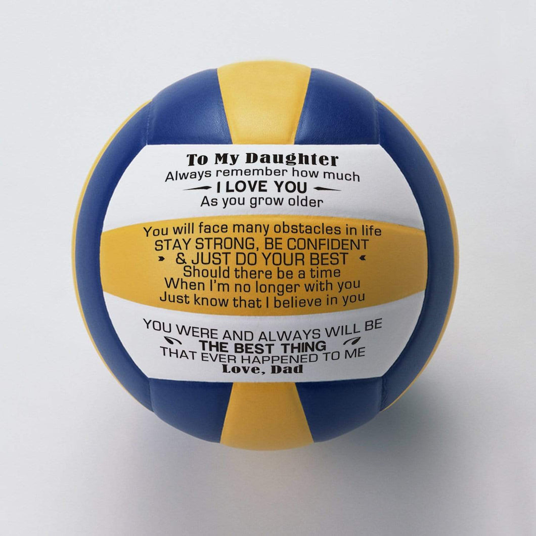Dad To Daughter-Stay Strong Be Confident Engraved Volleyball
