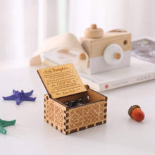 Load image into Gallery viewer, Dad To Daughter-You Will Always Be My Baby Girl Engraved Wooden Music Box  MB013
