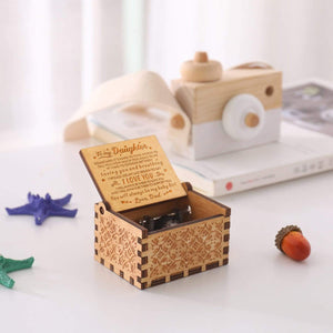 Dad To Daughter-You Will Always Be My Baby Girl Engraved Wooden Music Box  MB013