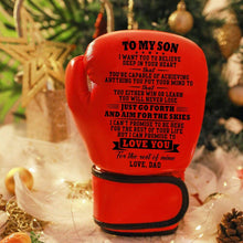 Load image into Gallery viewer, Dad To My Son- Love You For The Rest of Mine Boxing Gloves For Kids Red