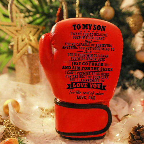 Dad To My Son- Love You For The Rest of Mine Boxing Gloves For Kids Red