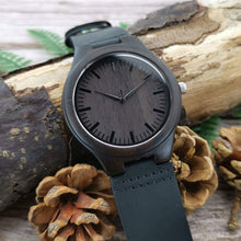 Load image into Gallery viewer, Dad to Son-Always Here For You Engraved Wooden Watch W1811