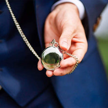 Load image into Gallery viewer, Dad To Son-Believe In The Man Personalized Engraved Quartz Pocket Chain Watch 4539