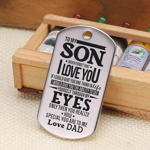 Dad To Son-How Special You Are Personalized Dog Tags For Graduation Birthday Gift 6015