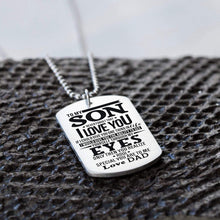 Load image into Gallery viewer, Dad To Son-How Special You Are Personalized Dog Tags For Graduation Birthday Gift 6015