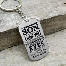 Load image into Gallery viewer, Dad To Son-How Special You Are Personalized Dog Tags For Graduation Birthday Gift 6015 Keychain
