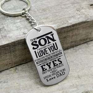 Dad To Son-How Special You Are Personalized Dog Tags For Graduation Birthday Gift 6015 Keychain