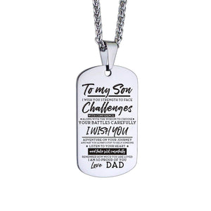 Dad To Son-I Am So Proud Of You Personalized Dog Tags 6044