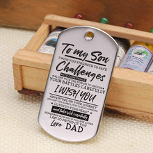 Load image into Gallery viewer, Dad To Son-I Am So Proud Of You Personalized Dog Tags 6044