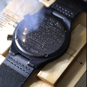 Dad to Son-I believe In You Engraved Wooden Watch